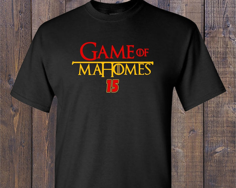 new photos 6333f 3fc3d Customized GAME OF MAHOMES, Patrick Mahomes Kansas City Chiefs T-Shirt