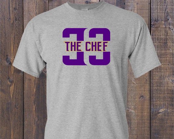 Customized Dalvin Cook 33 The Chef Minnesota Vikings Themed Graphic T Shirt