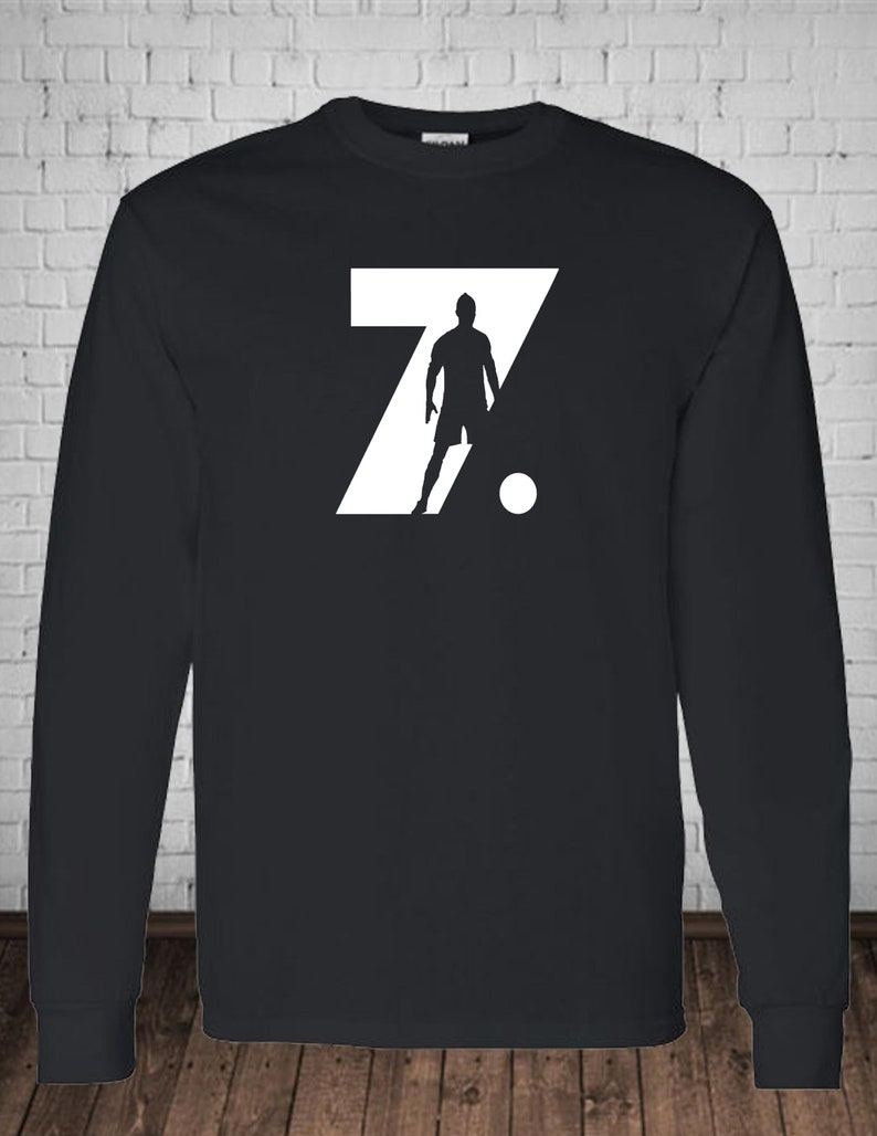 low priced 3b94d de9ae RONALDO 7, Cristiano Ronaldo Juventus themed Customized Long Sleeve T-Shirt