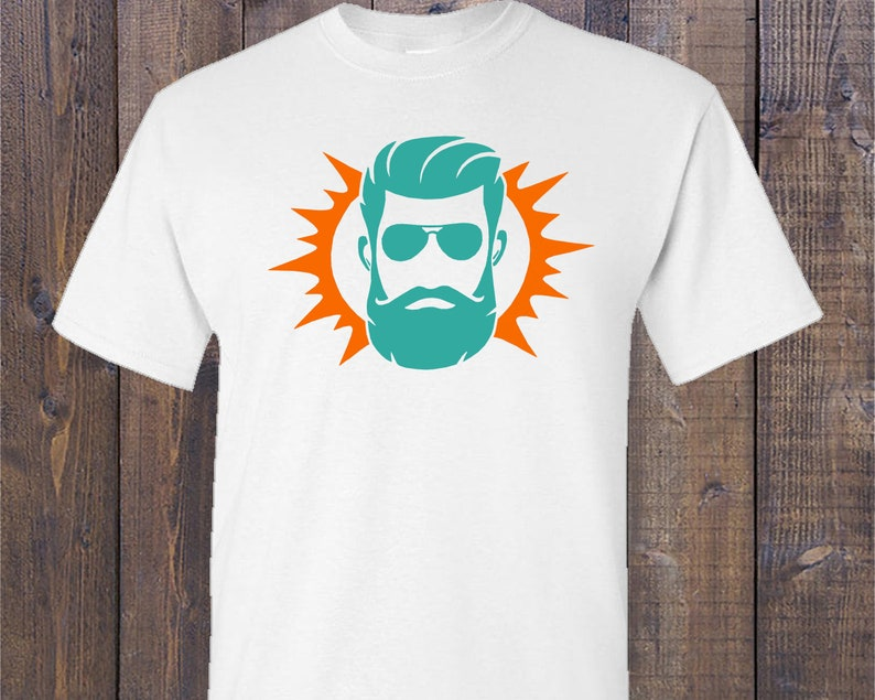 the best attitude d5d03 e3669 Customized RYAN FITZPATRICK, Miami Dolphins colored Graphic T-Shirt