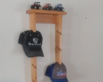 7de9423e734 Woodstock Hat Rack for Baseball Cap Storage - 2 rows wide - Store 16 Hats -  with Top Display Shelf - Better Grip lets hat keep its Shape
