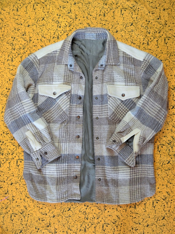 Vintage early 90s Wool Flannel Overshirt Jacket Sn