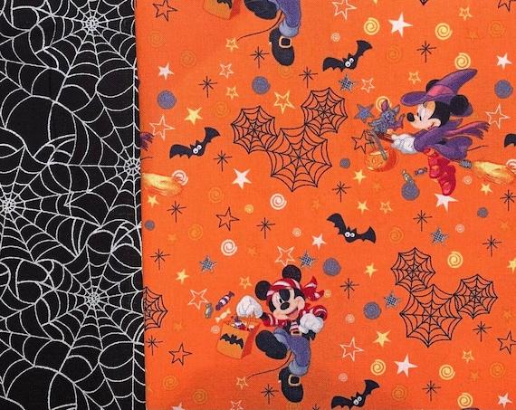 Reversible Mickey Pet Bandana, Collar Slides Thru, Halloween Dog Bandana, Fun Dog Costume, Ready to Ship, Made in Montana, Free Shipping!