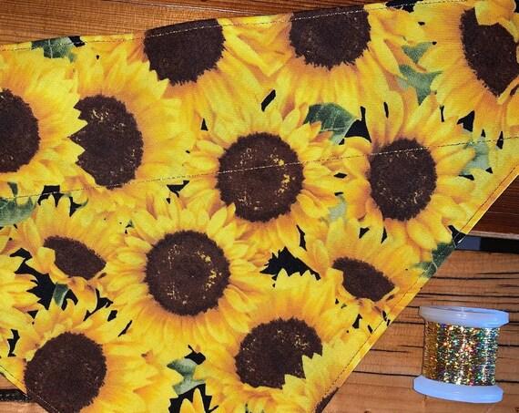 Sunflower Pet Bandana, Over the Collar, Pet Photo, Dog Mom Dad, Cat Mom Dad, Ferret Mom Dad, Guinea Pig Bandana, Pet Gift, Made in Montana