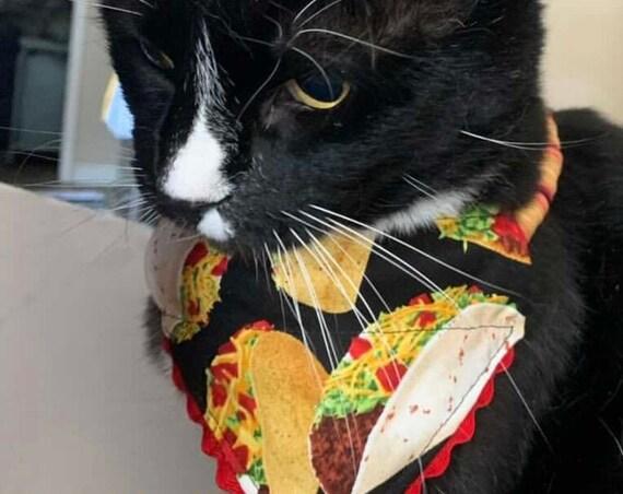 Taco Pet Bandana, Dog Cat Scarf, Designer Bandana, Taco Pet Costume, Made in Montana, Autism Owned Shop