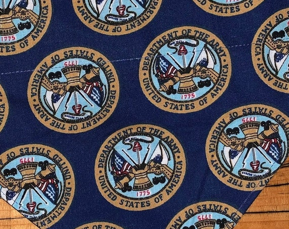 US Army Pet Bandana, Assistedly Made By Special Olympians, for Dogs or Cats or Critters, Made in Montana, Ready to Ship, Thank You Veterans
