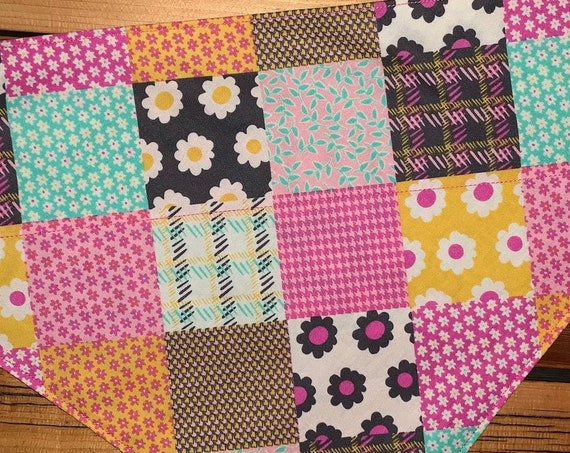 Pet Bandana for Dogs Cats or Critters, Collar Slips Thru, Spring Easter Photo, Made in Montana Assistedly by Young Adults with Special Needs