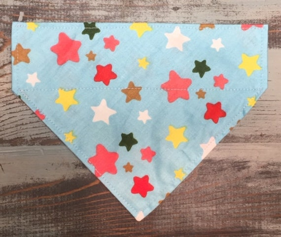 LAST ONE, Party Pet Bandana, Dog Pup Cat, Collar Slips Thru, Birthday, RV Pet, July 4th, Stars, Assistedly Made by Special Olympians