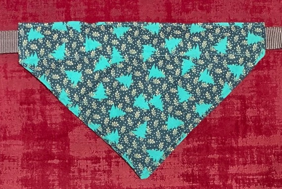 Vibrant Evergreen Trees Pet Bandana, Medium Dog Size Only, Collar Slips Thru, Christmas Gift, Montana Made Assistedly by Special Olympians