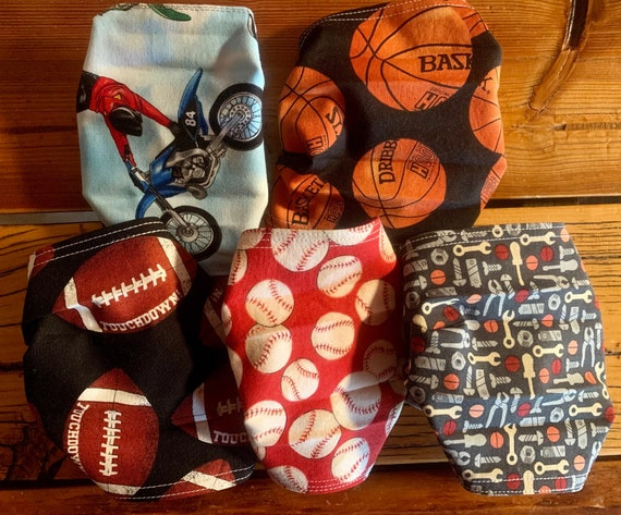 LAST PACK LEFT, 5 Men's Masks for Dads, School, Coaches, Teachers, Students, Athletes, Medical, Adult Size, Ready to Ship, Free Shipping!
