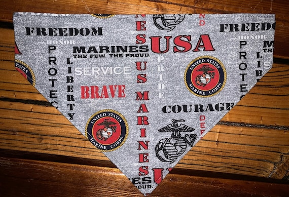 FREE for Military, US Marine Pet Bandana Assistedly Made By Special Olympians, One per customer please, Thank You Veterans!