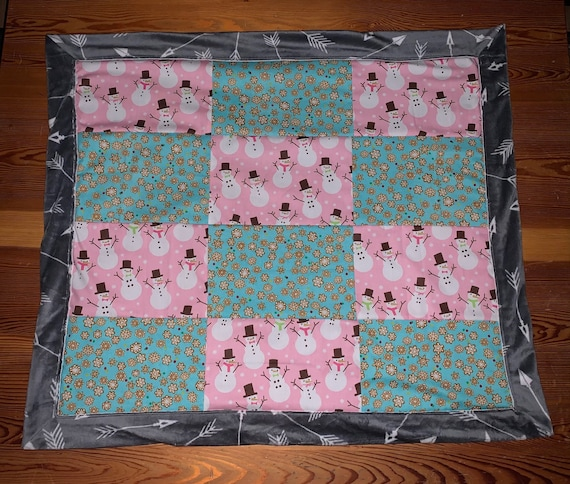 Cozy Pet Blankie, Reversible Soft Minky, Ready to Ship, 30 x 36, Free Trackable Shipping, Packaged & Shipped by Special Olympic Athletes