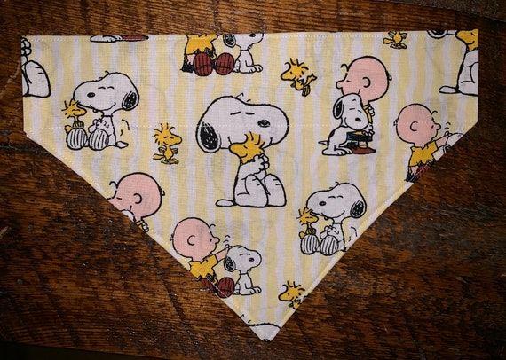 Snoopy Pet Bandana, Assistedly Made by Special Olympians, Collar Slides Thru, Beagle, Peanuts, Charlie Brown, Christmas, Stocking Stuffer