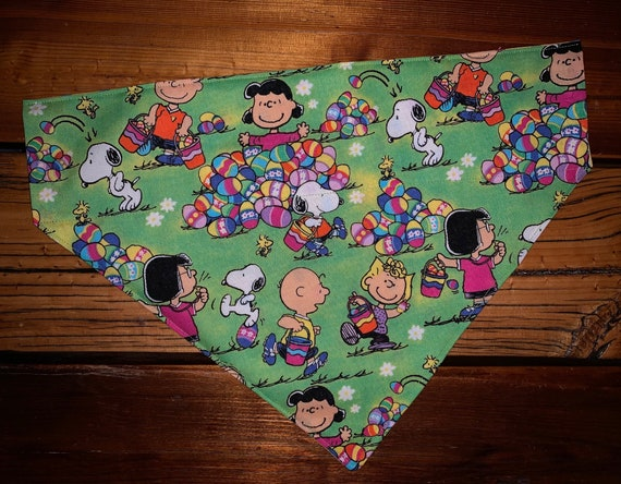 Reversible Easter Pet Bandana, for Dogs Cats or Critters, Collar Slips Thru, Made in Montana Assistedly by Young Adults with Special Needs