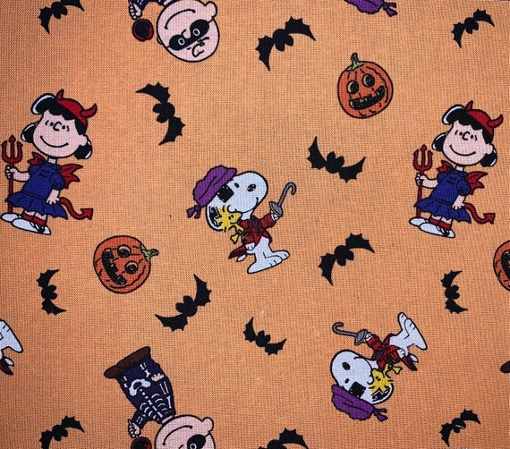 Snoopy Pet Bandana, Halloween Bandana for Dog or Cat, Collar Slips Thru, Ready to Ship, Made in Montana Assistedly by Special Olympians