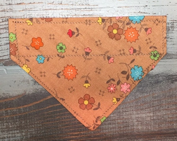 Wildflower Pet Bandana, Dog Bandana, Puppy Bandana, Cat Bandana, Over the Collar Bandana, Made in Montana, Camping, RV, Picnic, Park,