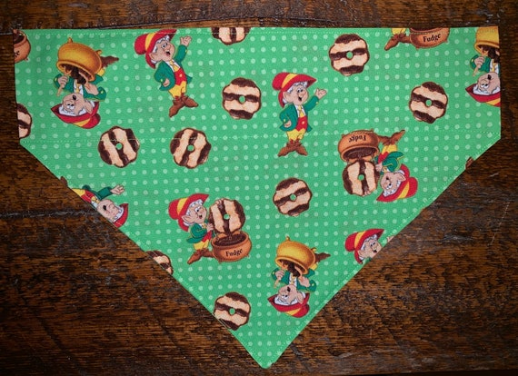 Pet Bandana, Special Needs Project, Keebler Elves, Dog Gift, Thru Collar Bandana, Made in Montana, E.L. Fudge Stripes Cookies, Ready to Ship