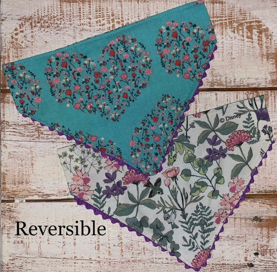 Scallop Edged Pet Bandana, Reversible, Luxe Pet Photos, Mothers Day Pet Gift, Made in Montana Assistedly by Young Adults with Special Needs