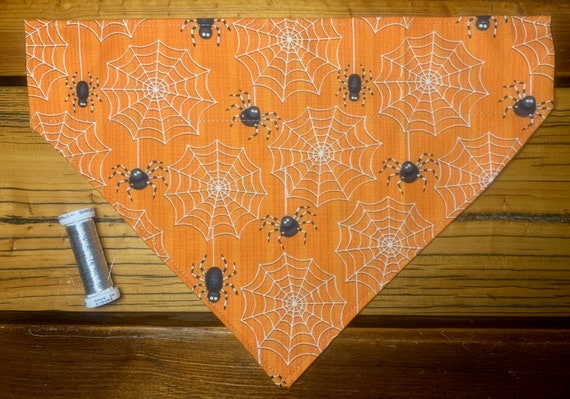Spidery Pet Bandana, Ships Free, for Dogs Pups Cats Ferrets Guinea Pigs, Assistedly Produced by Special Olympians =)