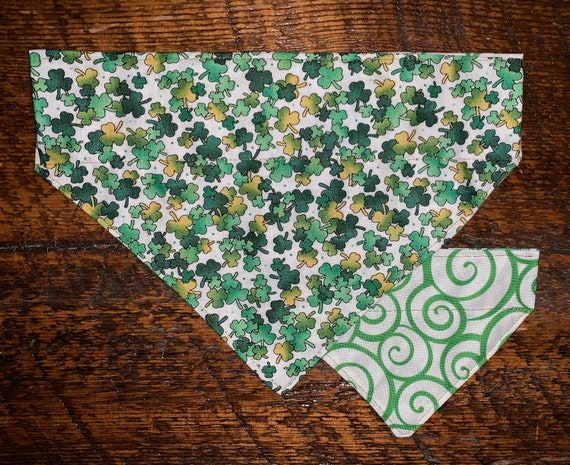 Reversible Lucky Pet Bandana, LIMITED SIZES LEFT, Assistedly Made in Montana by Young Adults with Special Needs, Ready to Ship!