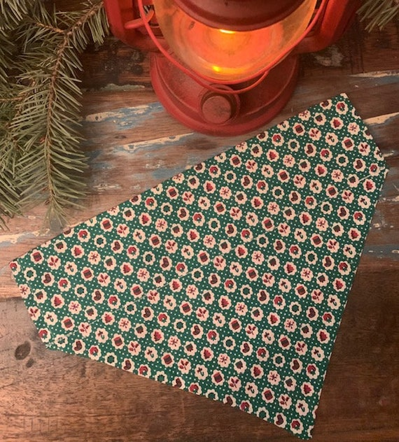 Holiday Pet Bandana, Collar Slips In, Made in Montana, Christmas Gift for Dogs, Holiday Photo Prop, Assistedly Made by Special Olympians