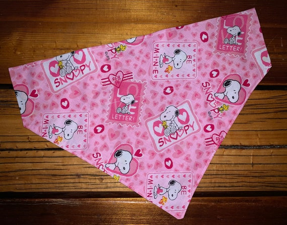 Snoopy Bandana for Dog or Cat, Collar Slips Thru the Top, Made in Montana Assistedly by Special Olympians