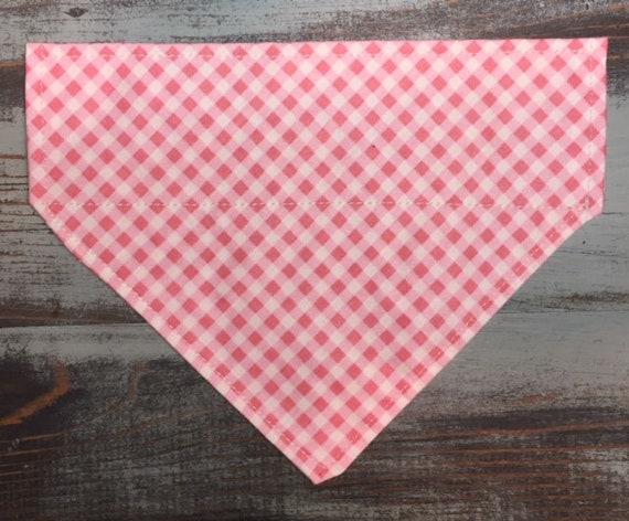 Gingham Dog Bandana, LAST ONE, Small, Collar Slips Thru, Made in Montana, for Cowboy or Cowgirl Pet, Ready to Ship Pet Gift