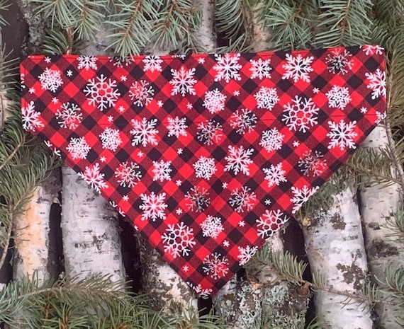 Lumberjack Montana Pet Bandana, VERY LIMITED SIZES, Buffalo Check, Plaid, Puppy or Cat Gift, Assistedly Made by Special Olympians