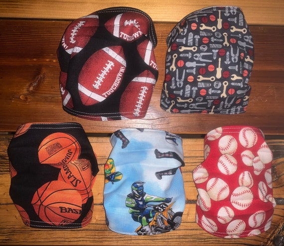 Clearance Guy's Mask, REVERSIBLE, Sports & Tools, Ships Fast w/Free Shipping, Assistedly Produced by Special Olympians