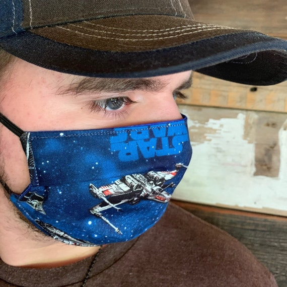 Star Wars Clearance Face Mask, Adult Size, Kids Sizes come with free ear adjusters, Made in Montana, Free Shipping w/Tracking