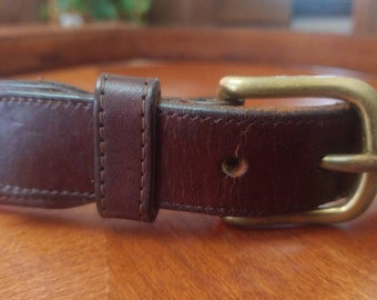 de1ebdd9d126 Small Vintage Coach Leather Belt