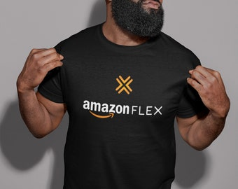 654a6659bc960 Amazon Flex tshirt - this BLACK tshirt can be used as a uniform to identify  yourself while making deliveries .... Print n Ship same day