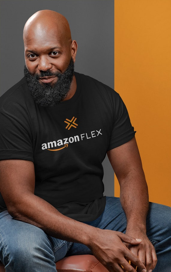 AMAZON Flex Delivery Black or Charcoal T-Shirt Uniform PRINT and SHIP SAME DAY