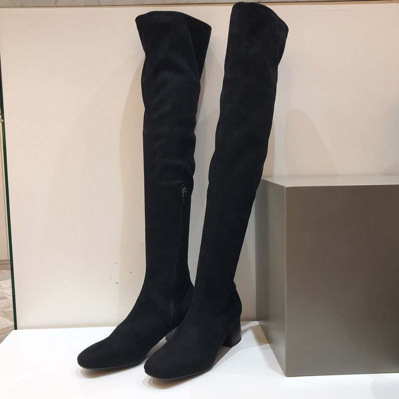 7f09534945b Women s Suede Over The Knee Boots Thigh High Boots