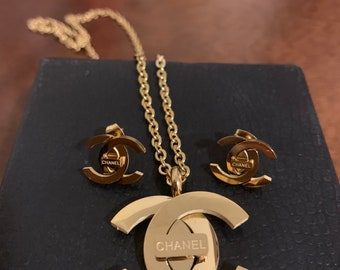 eb4e297be348 Chanel CC Necklace and Earrings Set