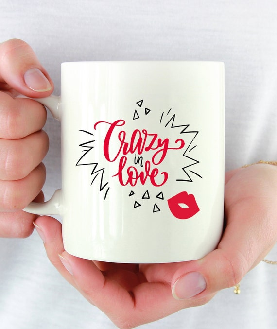 Crazy in love mug, Valentines Mug, I love you quotes mug, Valentines day  gift for him, quote about love, Valentines day gift for her, funny