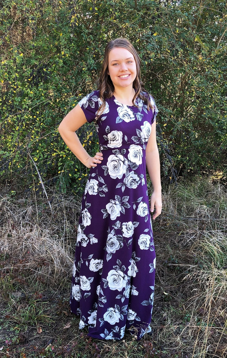 67f82b2689511 Purple nursing dress breastfeeding dress maxi nursing dress | Etsy