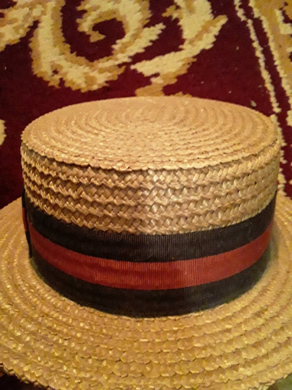 1920's Brooks Brothers Boater Hat