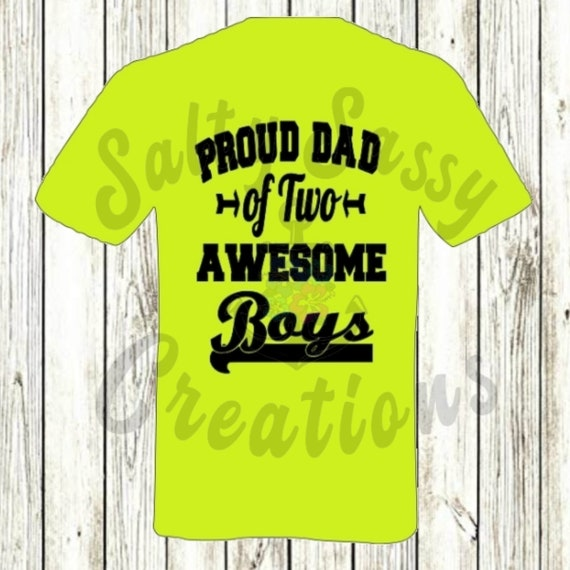 Proud Dad Of Two Awesome Sons Svg Png Jpeg Etsy