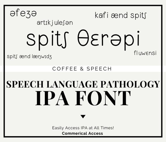 Coffee Speech Ipa Speech Language Pathology Font Etsy