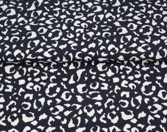 50cm Animal Print Cheetah Leopard cotton lycra stretch knit fabric 150cm wide