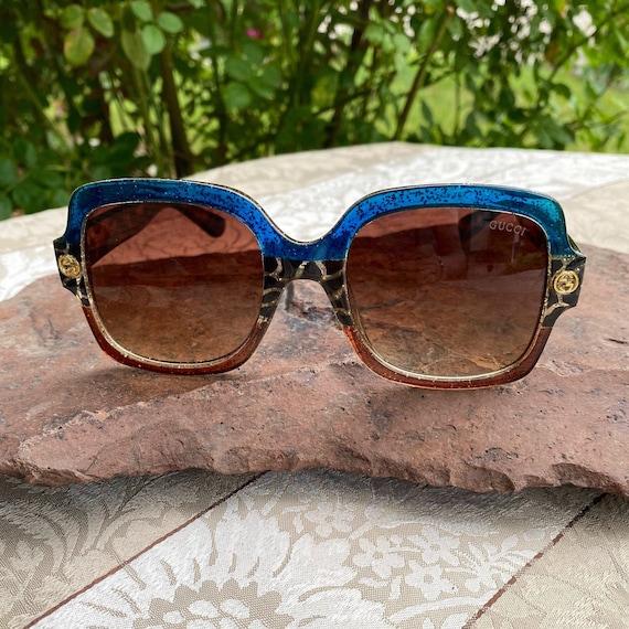 Vintage Gucci Classic Square Glitter Sunglasses