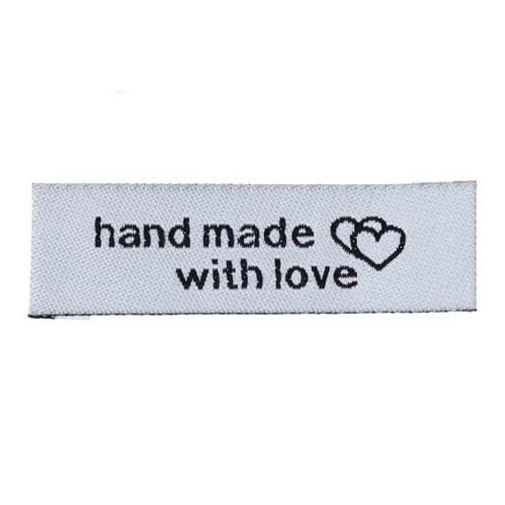 20 Handmade cotton fabric labels 55-15mm-20 Handgemachte Stoffetiketten-20 Fabric etiquettes Handmade-20 Etiquetas de tela 55-15mm