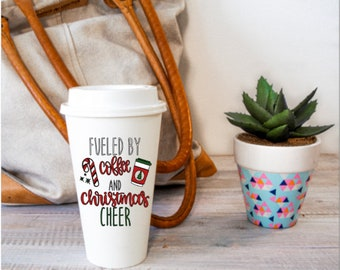 Christmas Travel Mug Etsy
