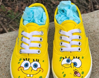 23c327b5a926 Spongebob - Custom painted shoes vans converse toms