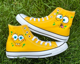 Spongebob shoes | Etsy