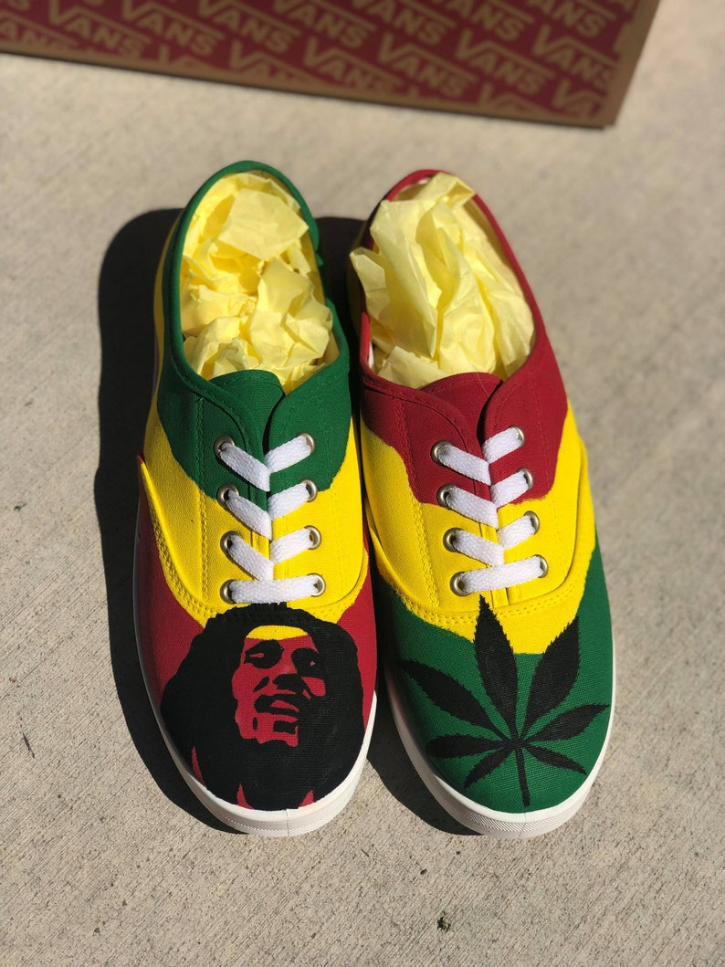 Bob Marley custom hand painted shoes