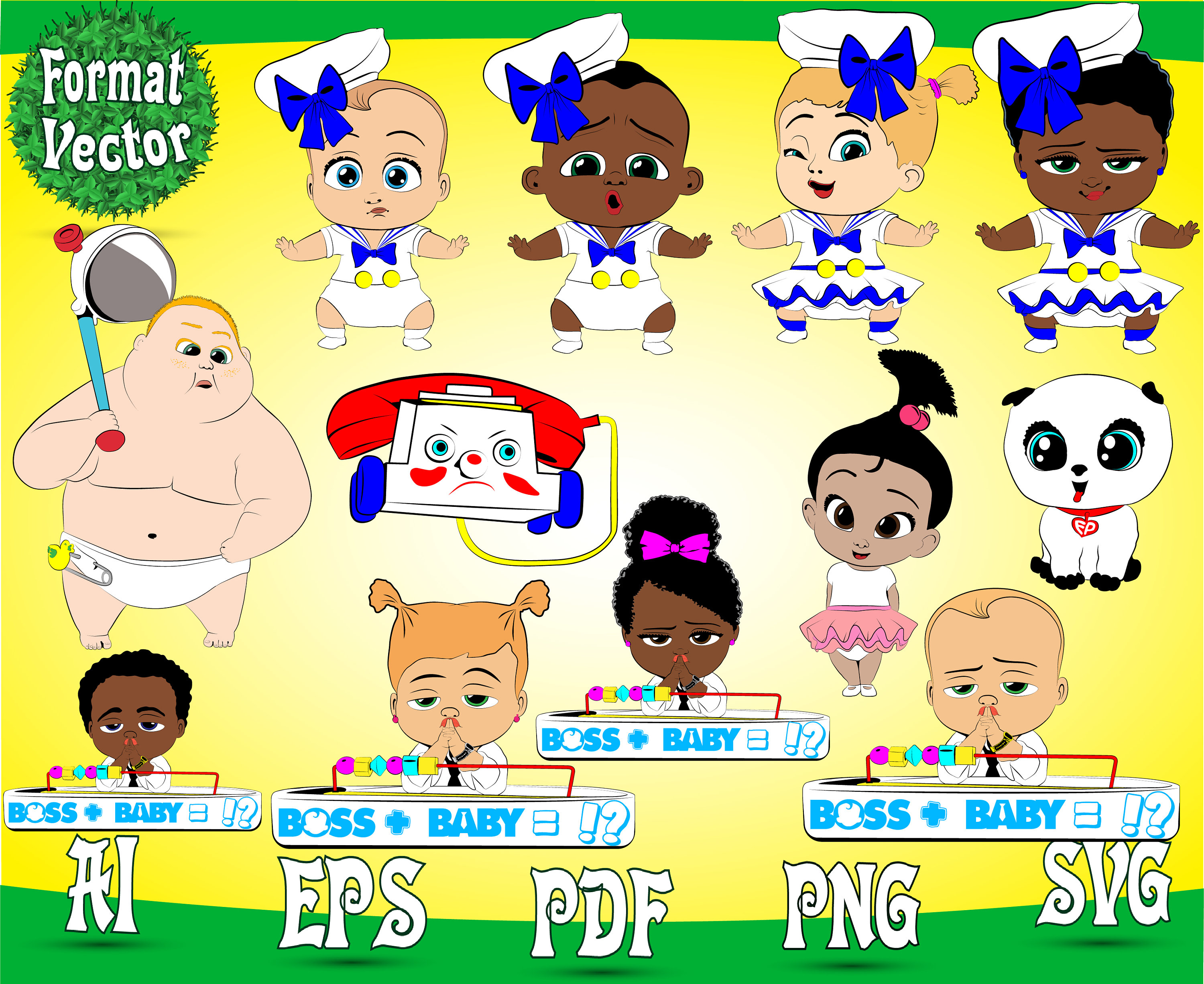 Characters For Your Design The Baby Svg Png Patterns Etsy
