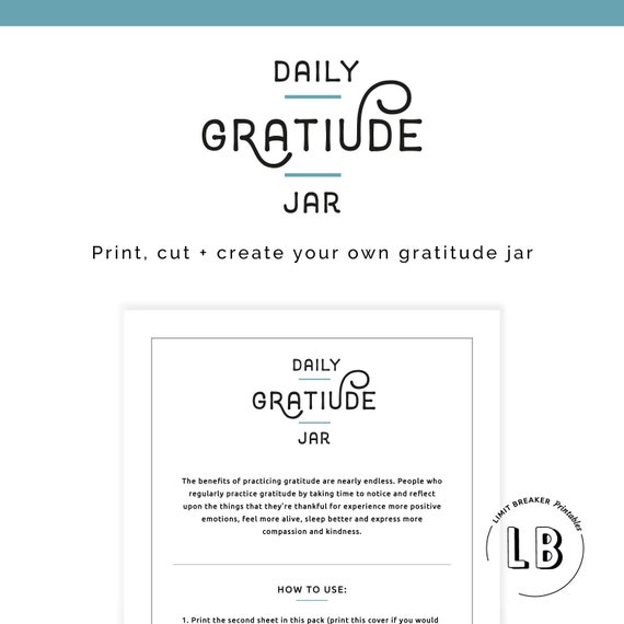 It's just an image of Gratitude Jar Printable within downloadable