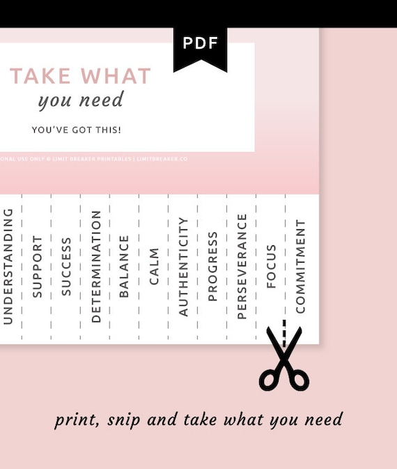 picture relating to Take What You Need Printable named Choose What Oneself Want Printable Tear Absent Poster, Remember to Acquire What Your self Require, Self Treatment Poster